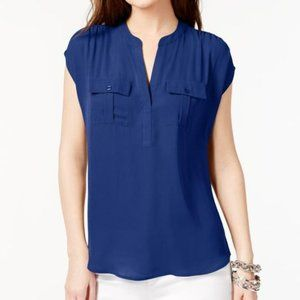 INC Split Neck Blouse